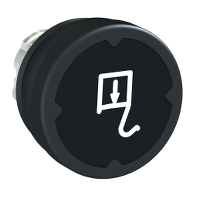 pushbutton head for harsh environment - black - with marking-legend rotated 90°