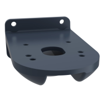 fixing plate for use on vertical support - black